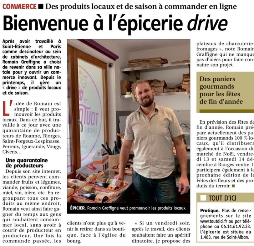 Article « Le Pays Roannais » 12 octobre 2019