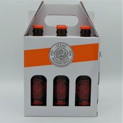 Pack 6  bières ambrées x 33cl