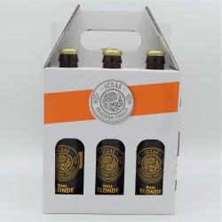 Pack 6  bières blondes x 33cl